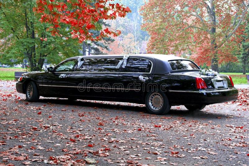 Limousine noire photographie stock libre de droits