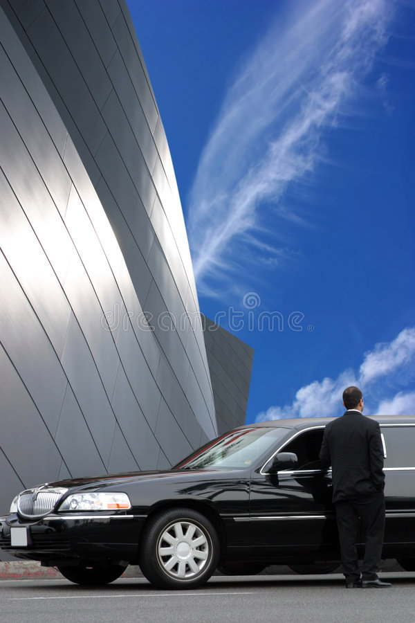 Limousine noire photo stock