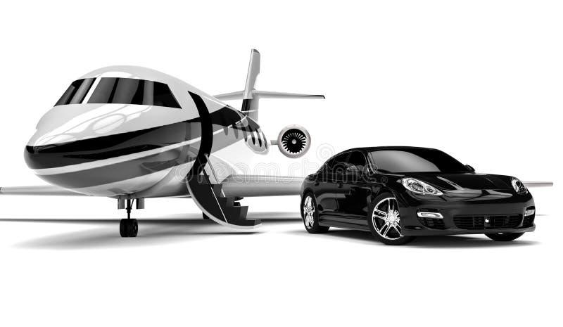 Limousine privée illustration libre de droits