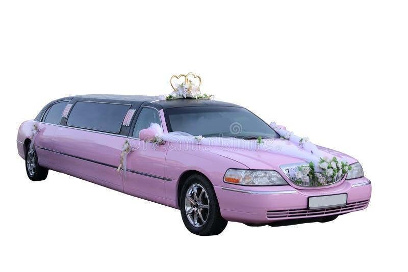 Limousine rose de mariage photographie stock libre de droits