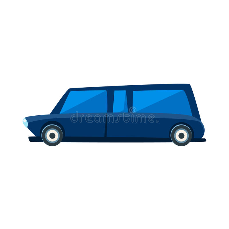 Limousine Toy Cute Car Icon. Flat Vector Transport Model Simple Illustration On White Background vector illustration