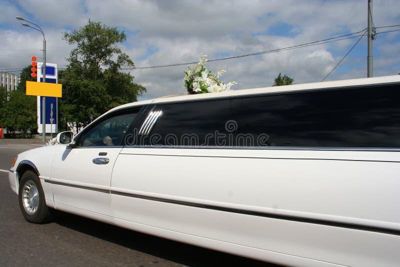 limousinebröllop royaltyfri bild