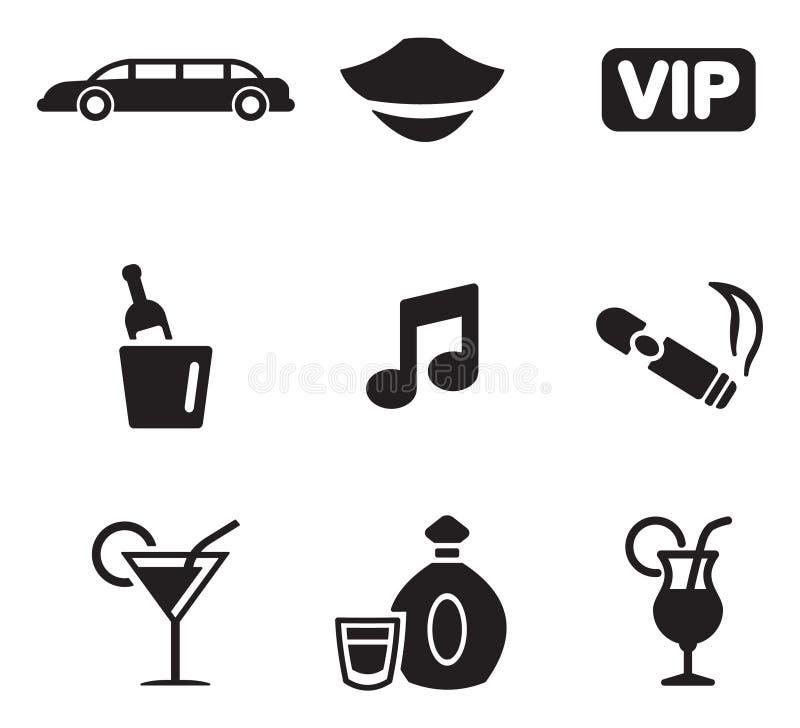 Limousinen-Ikonen stock abbildung