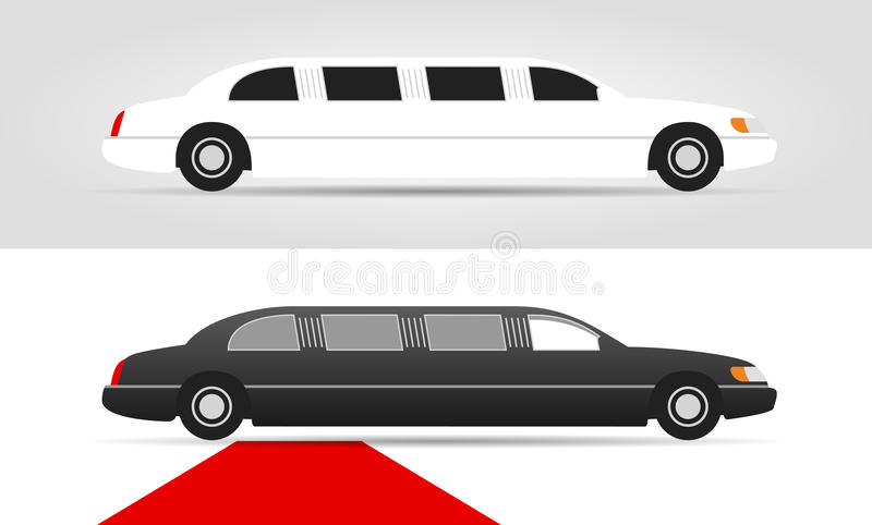 Limousines royalty free illustration
