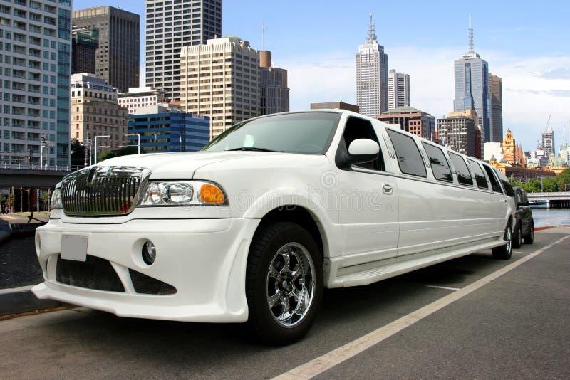 limousinewhite royaltyfri foto