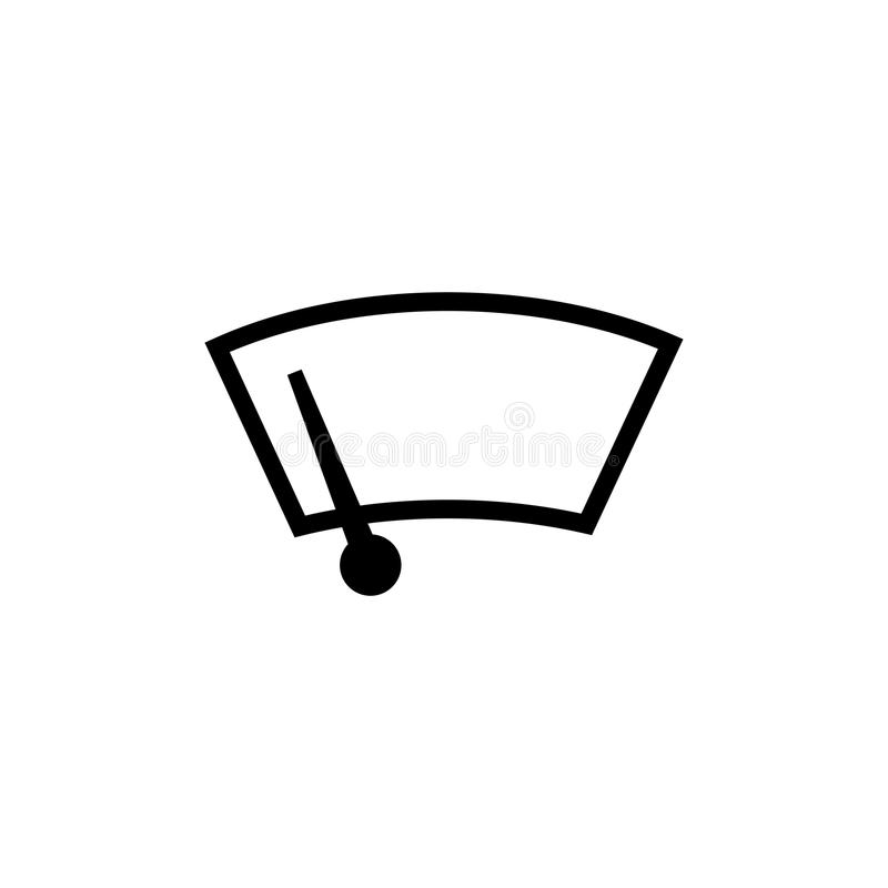 Limpador de pára-brisas do carro ilustração royalty free