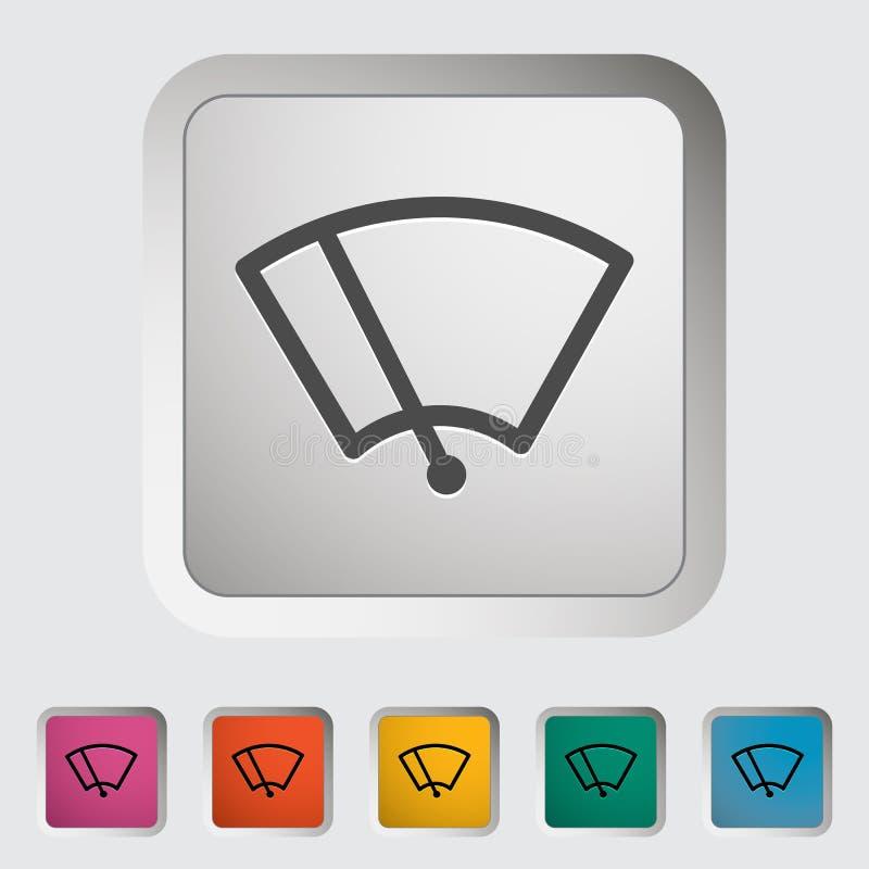Limpador do ícone do carro. ilustração do vetor