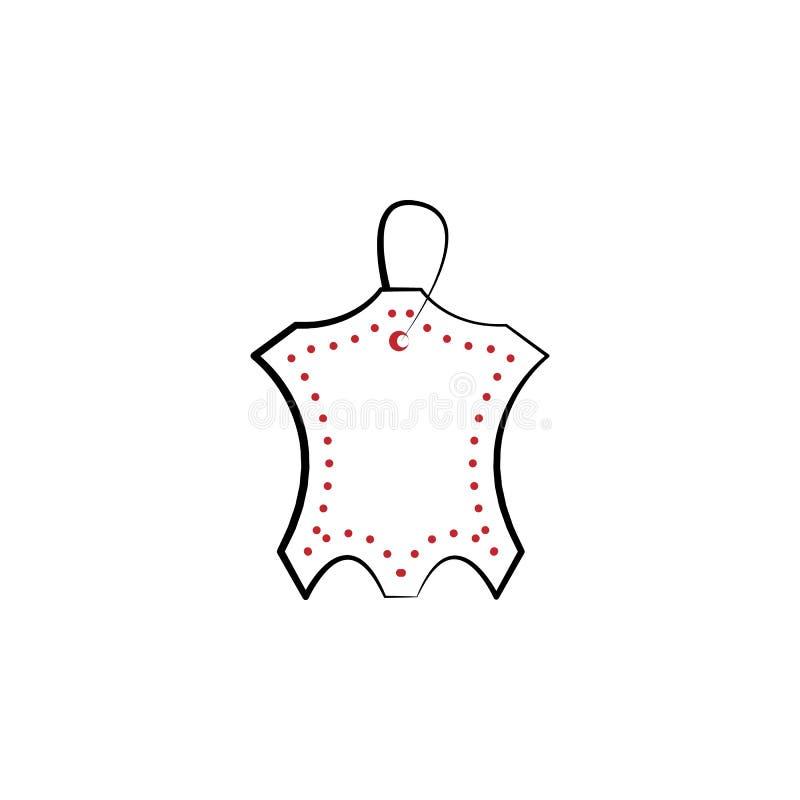 limpando, 2 secos, de couro linha colorida ícone Ilustração simples do elemento colorido limpando, projeto seco, de couro do símb ilustração royalty free