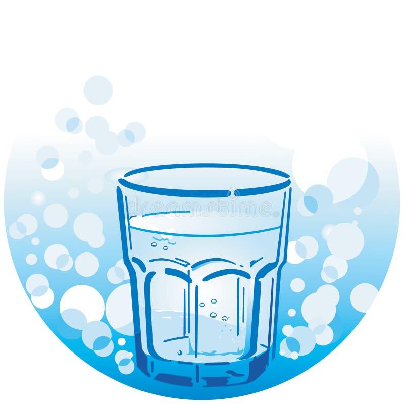 Limpe a água bebendo ilustração stock