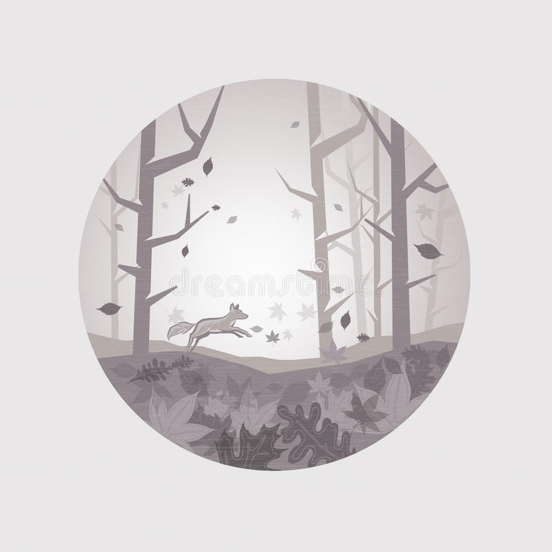 Limpe Autumn Scenic ilustração stock