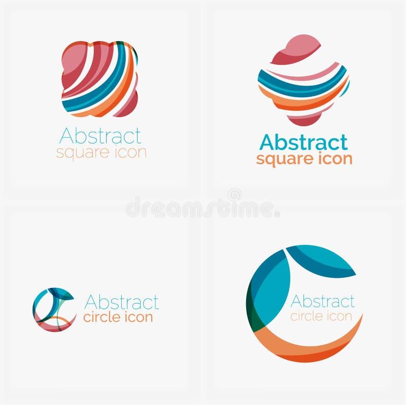 Limpe círculo elegante geométrico abstrato dado forma ilustração royalty free