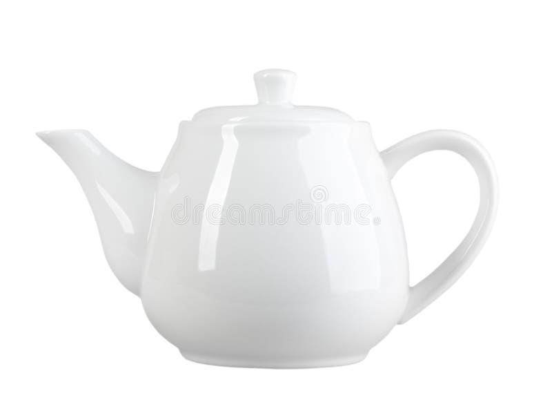 Chá-potenciômetro branco fotografia de stock