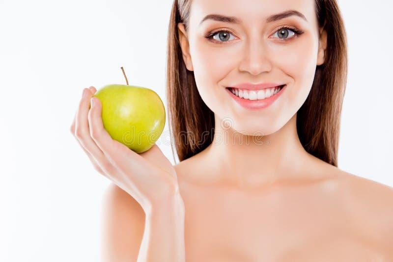 Limpe o conceito reto saudável forte claro do stomatology dos dentes C imagens de stock