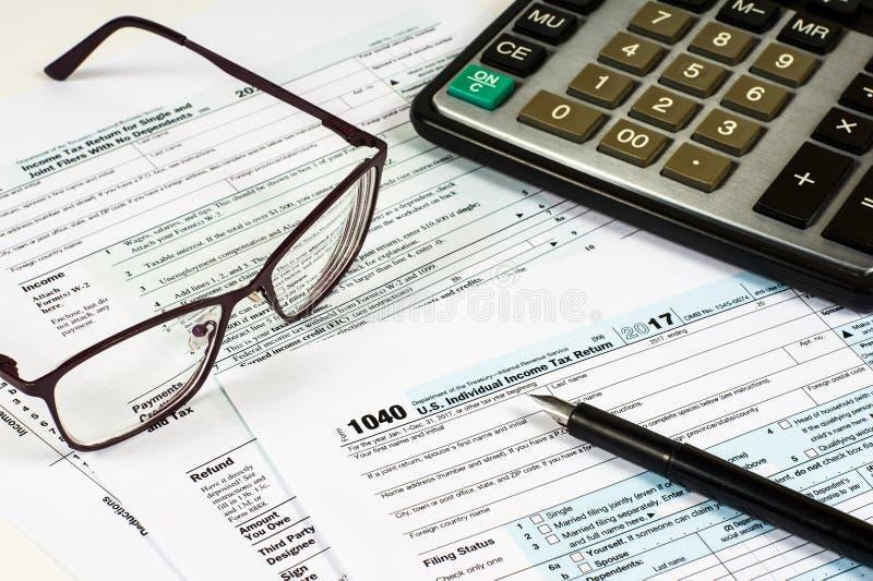 Limpe o formulário de imposto 1040 fotografia de stock royalty free