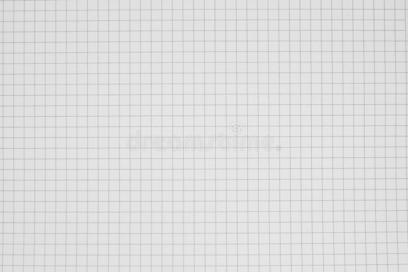 Limpe o fundo de papel da grade, caderno da grade foto de stock