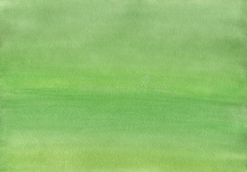 Limpe o fundo morno verde da aquarela ilustração stock