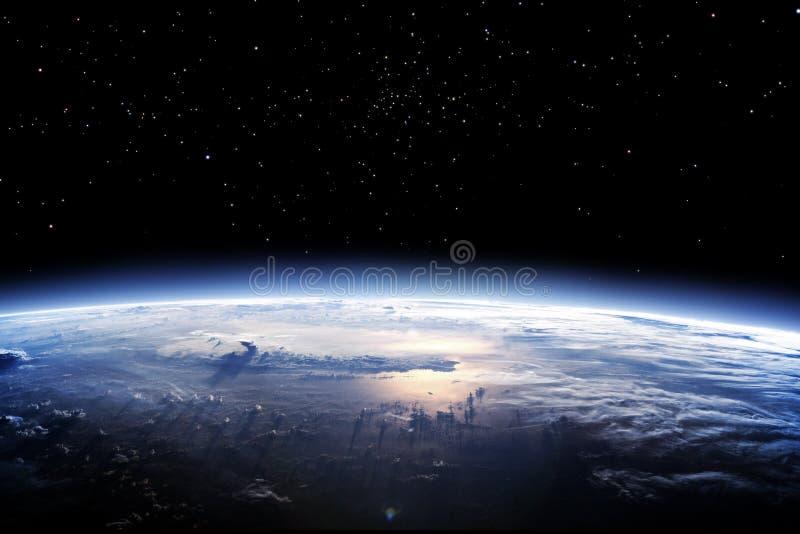 Limpe o horizonte da terra do espaço ilustração do vetor