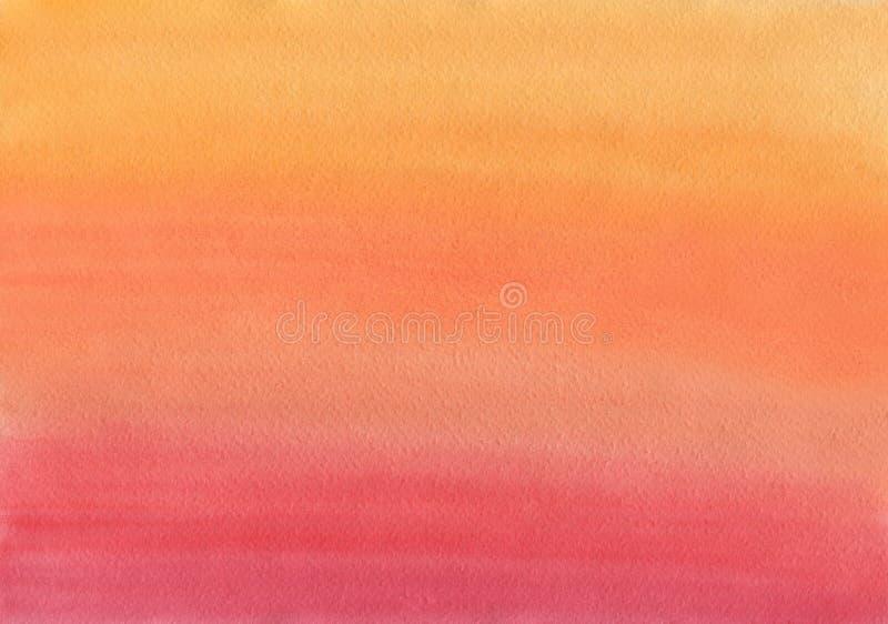 Limpe o inclinação morno do uniforme do fundo da aquarela ilustração stock