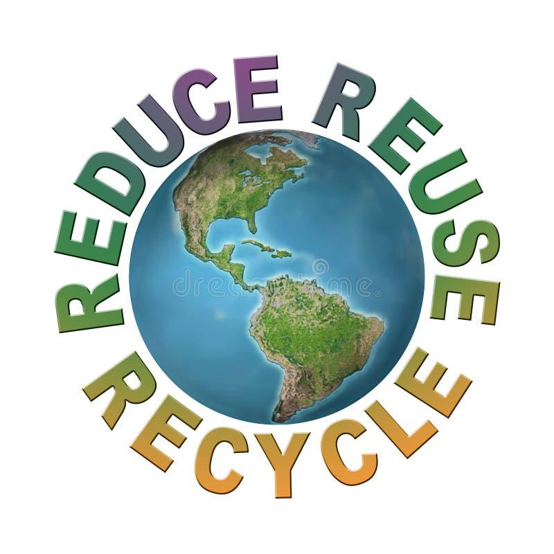 Limpe o planeta ilustração royalty free