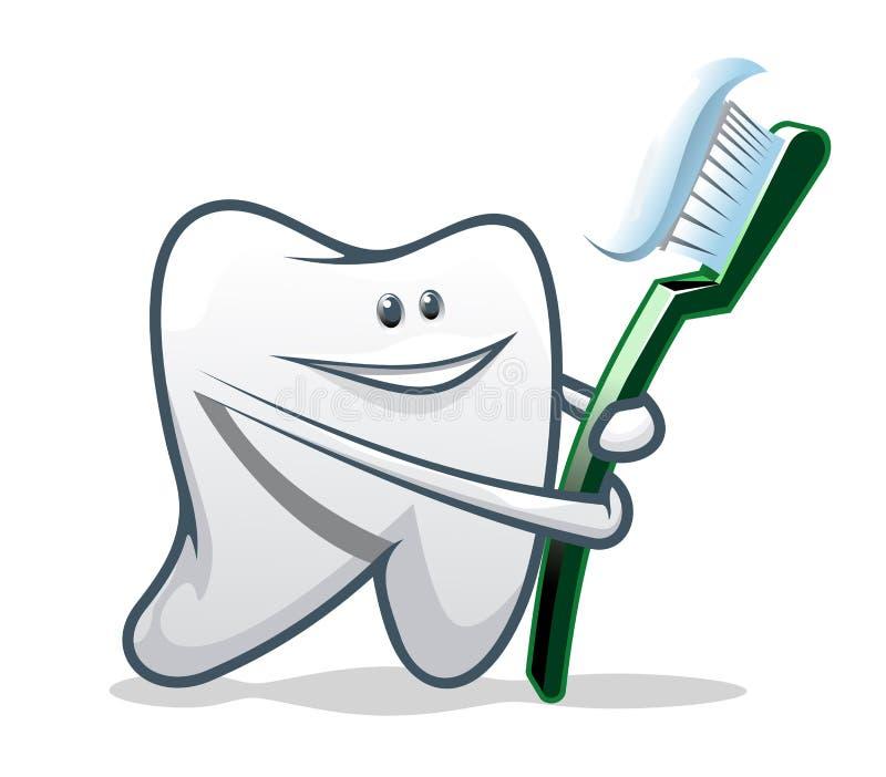 Limpe os dentes ilustração royalty free