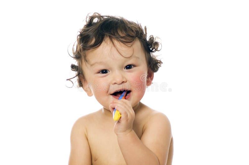 Limpe os dentes. imagem de stock