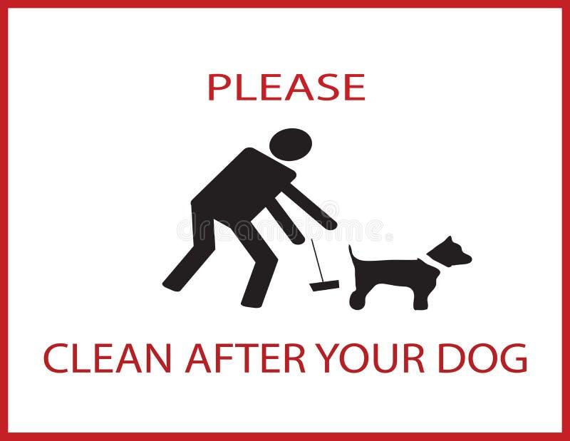 Limpe por favor após seu cão ilustração stock