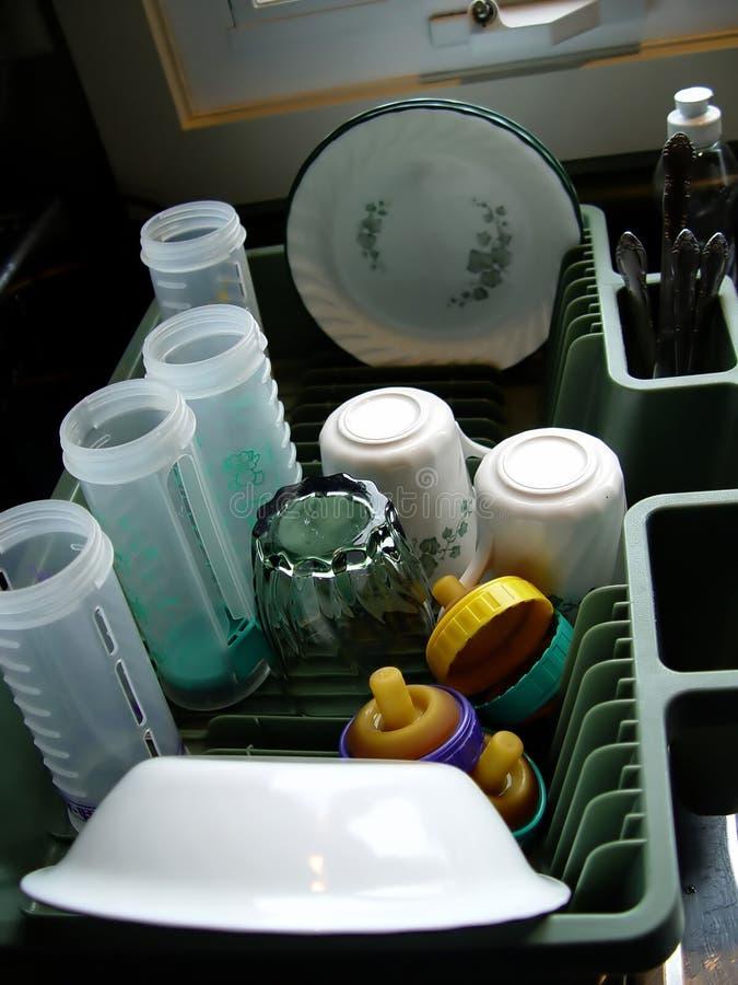 Limpe pratos na bandeja foto de stock royalty free