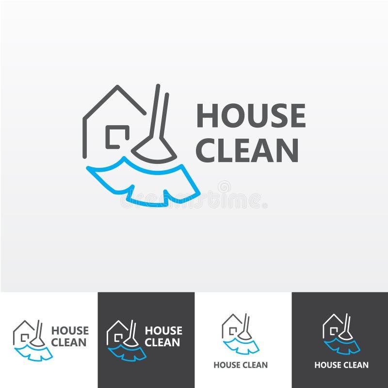 A limpeza da casa presta serviços de manutenção ao logotipo eps do vetor ilustração do vetor