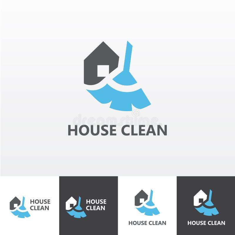 A limpeza da casa presta serviços de manutenção ao logotipo eps do vetor ilustração stock