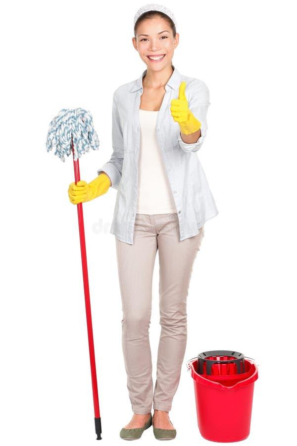 Limpeza da mulher fotos de stock