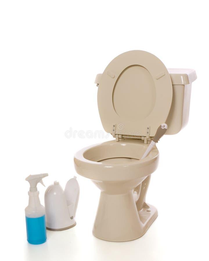 Limpeza do toalete foto de stock