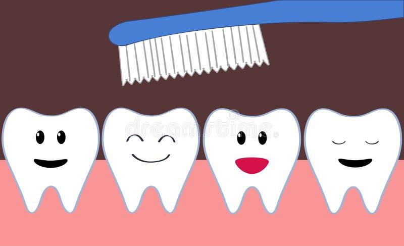 Limpeza dos dentes ilustração royalty free