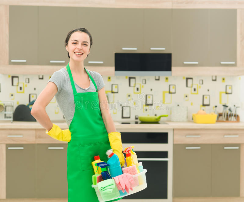 A limpeza faz-me feliz fotografia de stock