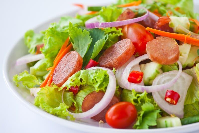 Limpeza picante-ácida da salada tailandesa da salsicha imagem de stock