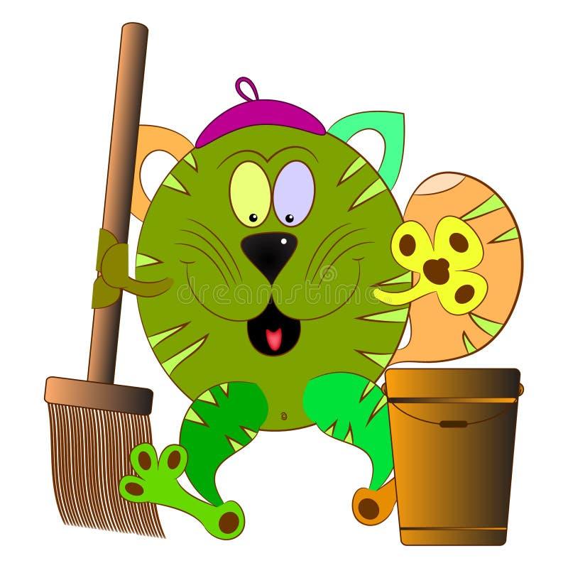 Limpiador del gato libre illustration