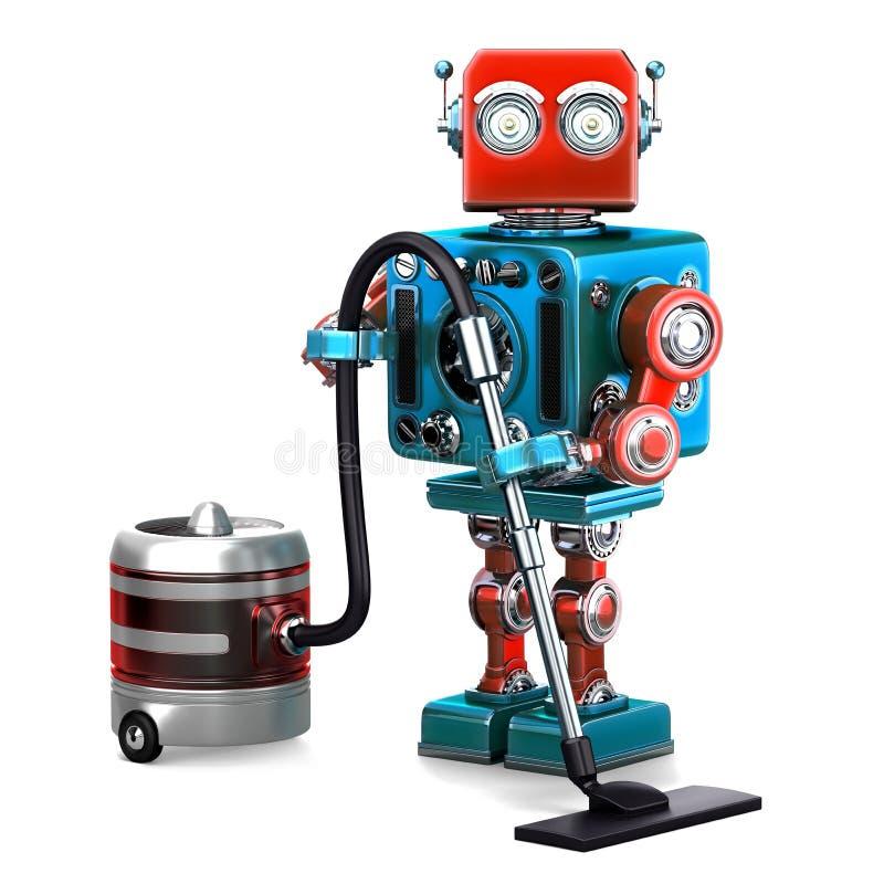 Limpiador del robot Concepto de la tecnología contiene libre illustration