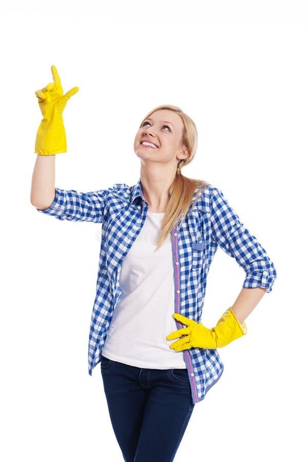 Limpiador femenino imágenes de archivo libres de regalías