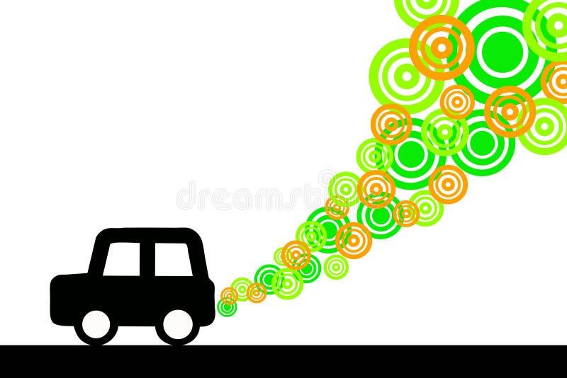 Limpie el coche ilustración del vector