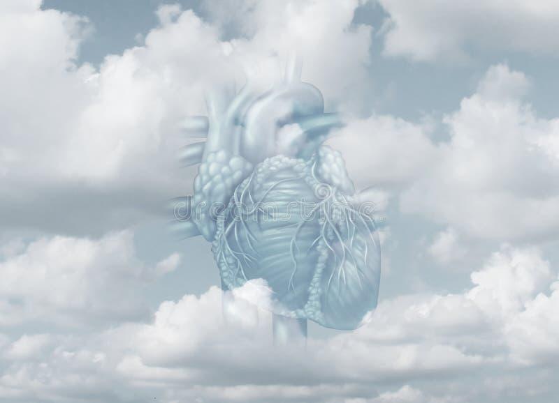 Limpie el concepto del corazón stock de ilustración