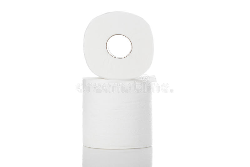 Limpie el papel higiénico blanco foto de archivo