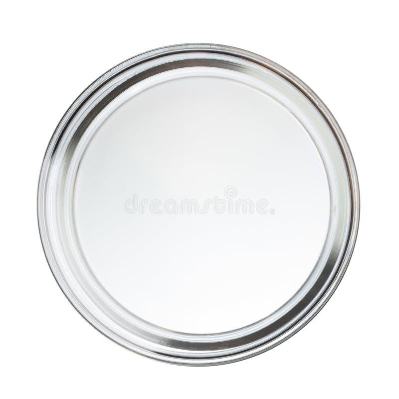 Limpie el plato vacío cerrado del perti imágenes de archivo libres de regalías