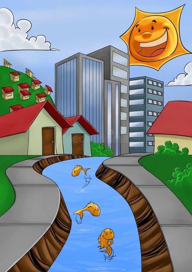 Limpie el río libre illustration