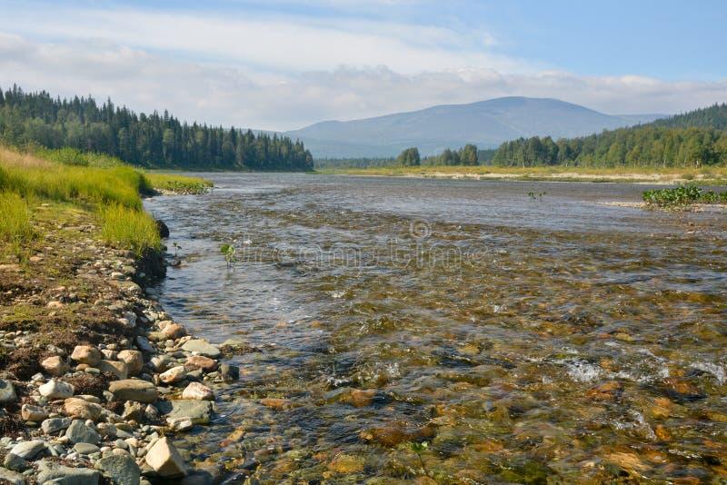 Limpie el río del norte foto de archivo