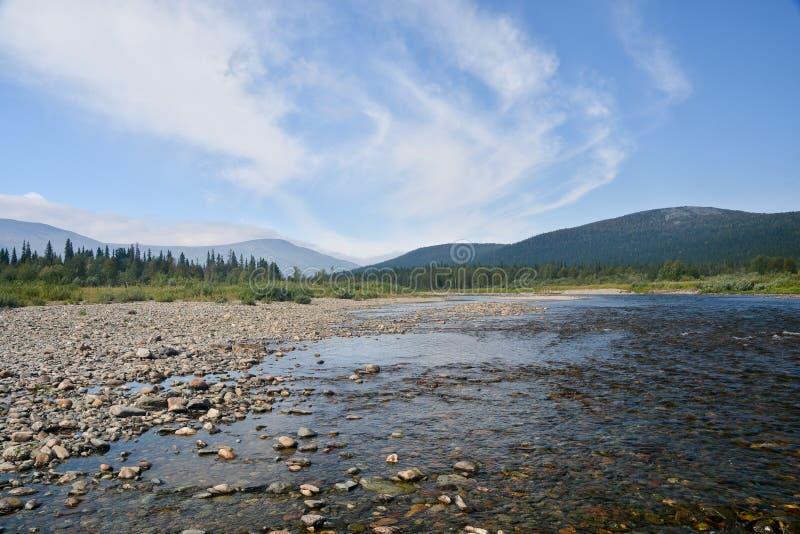 Limpie el río del norte fotos de archivo libres de regalías