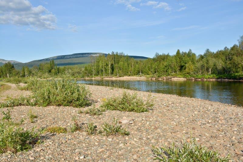 Limpie el río del norte fotografía de archivo libre de regalías