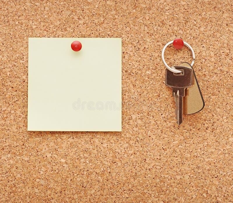 Limpie la nota de post-it imagen de archivo