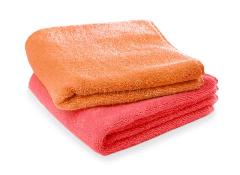 Limpie las toallas suaves fotos de archivo