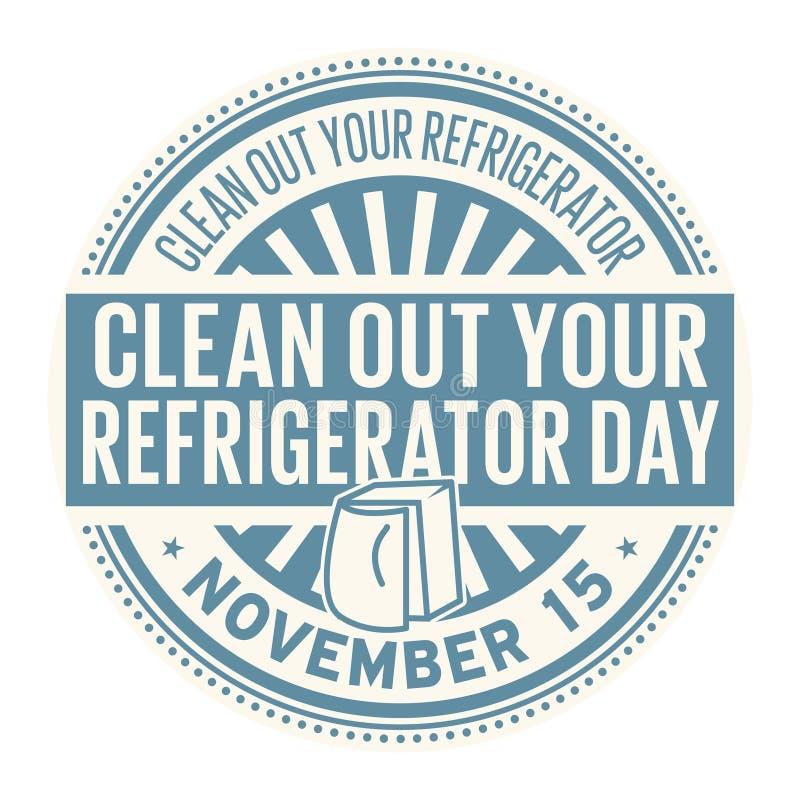 Limpie su día del refrigerador ilustración del vector
