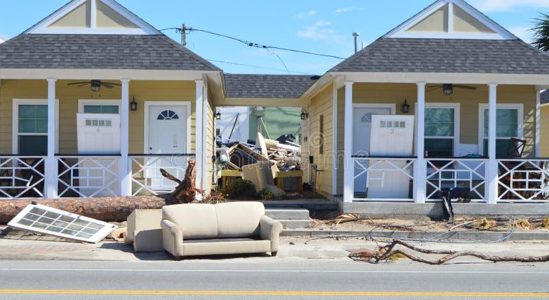 Limpieza de Michael del huracán imágenes de archivo libres de regalías