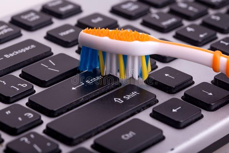 Limpieza del teclado fotos de archivo